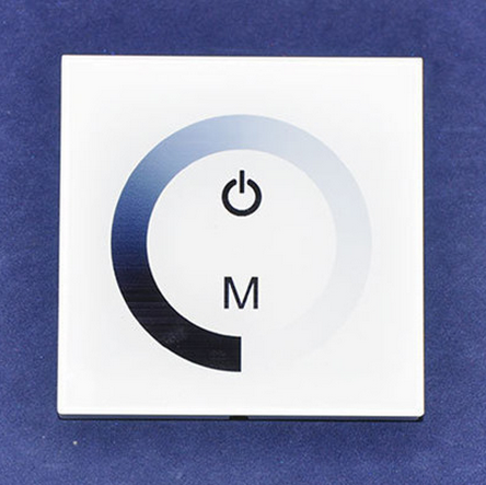 Glass Touch LED Controller Wall Switch Ring Touching Panel TM06 White