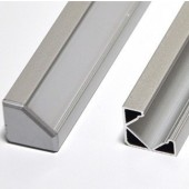 "39"" Aluminum L Tracking Extrusion Extruded Mounting Channel For LED Strips"