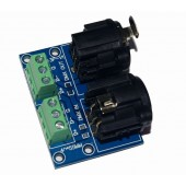 3Pin Terminal Adapter XLR 3 Pin to XLR Converters For DMX Controller LED Decoder