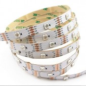 WS2813 DC 5V LED RGB Pixel Strip Dual-signal Wires 5M 150LEDs